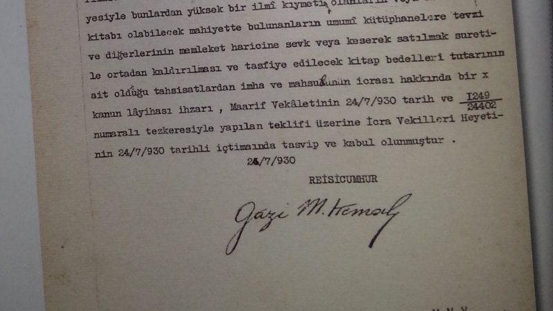 """Atatürk Diyor Ki: """"Osmanlıca Kitap, Dergi ve Risaleleri Yurt Dışına Satın"""""""